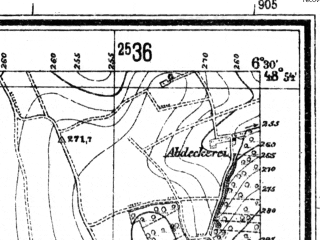 Reduced fragment of topographic map de--mb--025k--71_004--(1941)--N048-54_E006-20--N048-48_E006-30