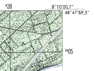 Reduced fragment of topographic map de--mb--025k--72_014-ams--(1954)--N048-48_E008-00--N048-42_E008-10