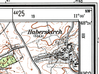Reduced fragment of topographic map de--mb--025k--76_031--(1983)--N048-24_E010-50--N048-18_E011-00; towns and cities Augsburg