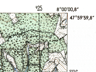 Reduced fragment of topographic map de--mb--025k--80_013-ams--(1954)--N048-00_E007-50--N047-54_E008-00