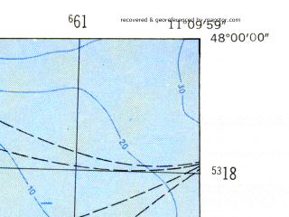 Reduced fragment of topographic map de--mb--025k--80_032-ams--(1954)--N048-00_E011-00--N047-54_E011-10