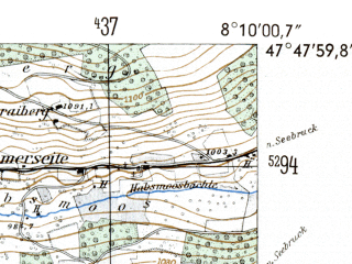 Reduced fragment of topographic map de--mb--025k--82_014-ams--(1954)--N047-48_E008-00--N047-42_E008-10
