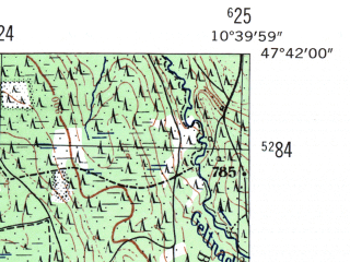 Reduced fragment of topographic map de--mb--025k--83_029-ams--(1954)--N047-42_E010-30--N047-36_E010-40