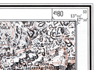 Reduced fragment of topographic map de--mb--025k--85_043--(1959)--N047-30_E012-50--N047-24_E013-00