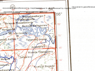 Reduced fragment of topographic map de--me--001m--n39--(1941)--N056-00_E048-00--N052-00_E054-00 in area of Kujbysevskoje Vodochranilisce; towns and cities Kuybyshev, Kazan', Tol'yatti, Ul'yanovsk, Naberezhnyye Chelny