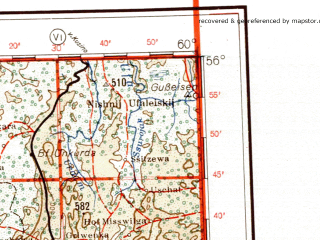 Reduced fragment of topographic map de--me--001m--n40--(1941)--N056-00_E054-00--N052-00_E060-00 in area of Pavlovskoe Vodochranilisce; towns and cities Ufa, Magnitogorsk, Zlatoust, Sterlitamak, Salavat