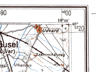 Reduced fragment of topographic map de--me--300k--1P48--(1944)--N048-00_E016-20--N047-00_E018-20 in area of Neusiedler See; towns and cities Gyor, Sopron, Nove Zamky, Ajka, Papa