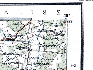 Reduced fragment of topographic map de--me--300k--1P52--(1902)--N052-00_E016-20--N051-00_E018-20; towns and cities Wroclaw, Ostrow Wielkopolski, Leszno, Jarocin, Krotoszyn