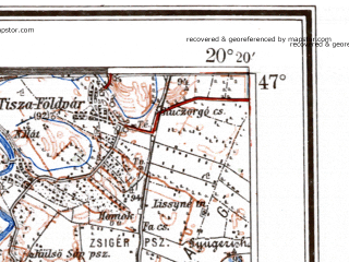 Reduced fragment of topographic map de--me--300k--1Q47--(1941)--N047-00_E018-20--N046-00_E020-20; towns and cities Szeged, Hodmezovasarhely, Subotica, Dunaujvaros, Kiskunfelegyhaza