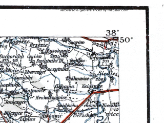 Reduced fragment of topographic map de--me--300k--1Q50--(1914)--N050-00_E018-20--N049-00_E020-20; towns and cities Bielsko-biala, Jastrzebie-zdroj, Karvina, Frydek Mistek, Nowy Targ