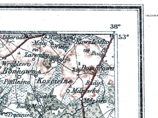 Reduced fragment of topographic map de--me--300k--1Q53--(1902)--N053-00_E018-20--N052-00_E020-20; towns and cities Plock, Wloclawek, Kutno, Sochaczew, Lowicz