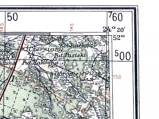 Reduced fragment of topographic map de--me--300k--1S52--(1939)--N052-00_E022-20--N051-00_E024-20; towns and cities Lublin, Chelm, Lukow, Swidnik, Lubartow