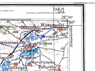 Reduced fragment of topographic map de--me--300k--1T50--(1943)--N050-00_E024-20--N049-00_E026-20; towns and cities Ternopol', Kalush, Chortkov, Volochisk, Buchach