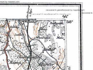 Reduced fragment of topographic map de--me--300k--1T58--(1897)--N058-00_E024-20--N057-00_E026-20; towns and cities Valmiyera, Tsesis, Valga, Salatsgriva, Limbazhi