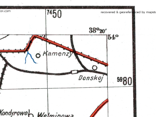 Reduced fragment of topographic map de--me--300k--1Z54--(1941)--N054-00_E036-20--N053-00_E038-20; towns and cities Uzlovaya, Yefremov, Kireyevsk, Bogoroditsk, Mtsensk