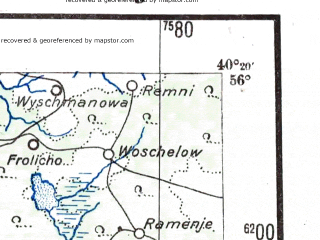 Reduced fragment of topographic map de--me--300k--2a56--(1941)--N056-00_E038-20--N055-00_E040-20; towns and cities Orekhovo-zuyevo, Kolomna, Elektrostal', Voskresensk, Pavlovskiy Posad