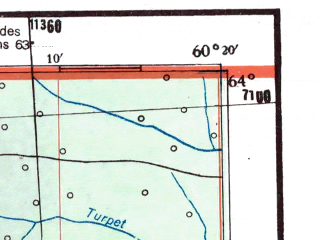Reduced fragment of topographic map de--me--300k--2k64--(1942)--N064-00_E058-20--N063-00_E060-20