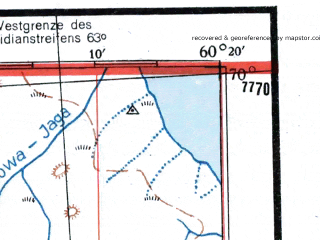 Reduced fragment of topographic map de--me--300k--2k70--(1942)--N070-00_E058-20--N069-00_E060-20; towns and cities Varnek