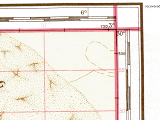 Reduced fragment of topographic map de--me--500k--h30-sw--(1942)--N030-00_W006-00--N028-00_W003-00