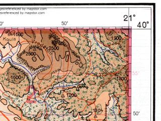 Reduced fragment of topographic map de--me--500k--j34-nw--(1941)--N040-00_E018-00--N038-00_E021-00 in area of Limni Ioaninon, Liqeni I Butrintit; towns and cities Kerkira, Ioannina, Preveza, Arta, Sarande