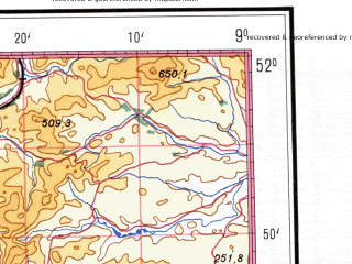 Reduced fragment of topographic map de--me--500k--m29-nw--(1942)--N052-00_W012-00--N050-00_W009-00 in area of Lee, Lough Currane; towns and cities Kenmare, Bantry, Caherciveen