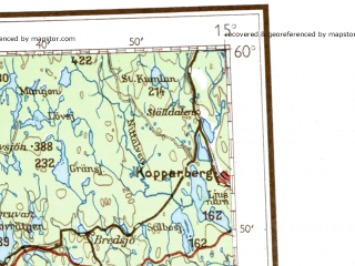 Reduced fragment of topographic map de--me--500k--o33-nw--(1941)--N060-00_E012-00--N058-00_E015-00 in area of Vanern, Skagern, Glafsfjorden; towns and cities Trollhattan, Karlstad, Lidkoping, Skovde, Karlskoga