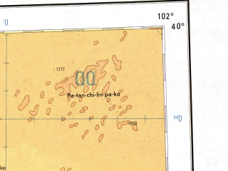 Reduced fragment of topographic map en--ams--001m--nj47--(1957)--N040-00_E096-00--N036-00_E102-00 in area of Qinghai Hu, Har Hu, Toson Hu; towns and cities Xining, Yonggu, Tumba, Liuba
