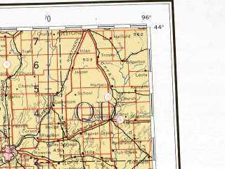 Reduced fragment of topographic map en--ams--001m--nk14--(1957)--N044-00_W102-00--N040-00_W096-00 in area of Platte, Elkhorn, North Loup; towns and cities Omaha, Lincoln, Sioux City, Sioux Falls, Norfolk