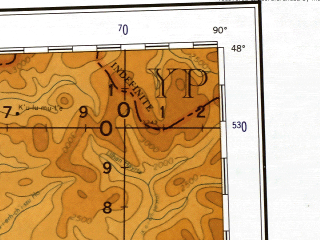 Reduced fragment of topographic map en--ams--001m--nl45--(1957)--N048-00_E084-00--N044-00_E090-00 in area of Ulungur Hu, Manas Hu, Jili Hu; towns and cities Zaysan, Tzu-ni-chuan, Liu-lu, Pu-ko-ni-ko-tai