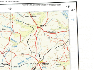 Download Topographic Map In Area Of Penza Saransk Arzamas - Saransk map