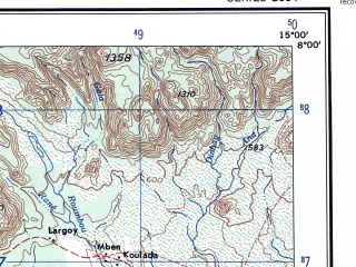 Reduced fragment of topographic map en--ams--250k--nb33-02--(1956)--N008-00_E013-30--N007-00_E015-00; towns and cities Ngaoundere, Mbang, Tchabal Amadou