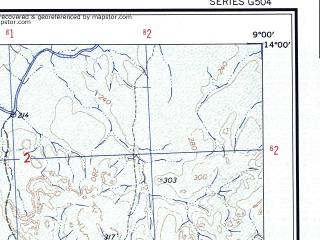 Reduced fragment of topographic map en--ams--250k--nd29-10--(1956)--N014-00_W010-30--N013-00_W009-00; towns and cities Kita, Farimansonia, Moro-moro, Gassito