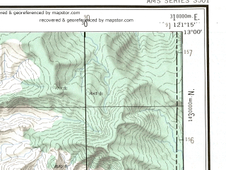 Reduced fragment of topographic map en--ams--250k--nd51-13--(1956)--N013-00_E119-45--N012-00_E121-15 in area of Philippine Sea, Philippine Sea; towns and cities Santa Teresa, Bolo, Maricaban