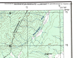 Reduced fragment of topographic map en--ams--250k--ne51-09--(1956)--N018-00_E120-00--N017-00_E121-30; towns and cities Naglibacan, Dili, Gobgob