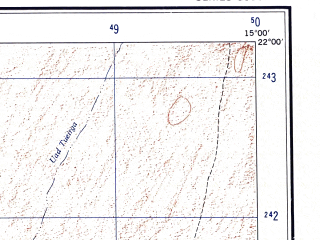 Reduced fragment of topographic map en--ams--250k--nf28-10--(1956)--N022-00_W016-30--N021-00_W015-00 in area of Sebkhet Afouidich
