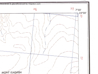 Reduced fragment of topographic map en--ams--250k--nf32-01--(1956)--N024-00_E006-00--N023-00_E007-30