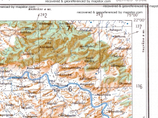 Reduced fragment of topographic map en--ams--250k--nf43-10--(1956)--N022-00_E073-30--N021-00_E075-00; towns and cities Sankal, Shirpur, Dondaicha