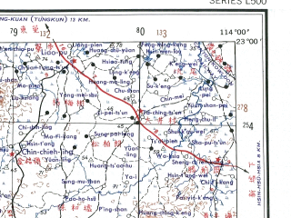 Reduced fragment of topographic map en--ams--250k--nf49-08--(1956)--N023-00_E112-30--N022-00_E114-00; towns and cities Macao, Houjie, Nanlang, Xiazha