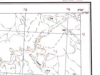Reduced fragment of topographic map en--ams--250k--ng31-06--(1956)--N027-00_E001-30--N026-00_E003-00
