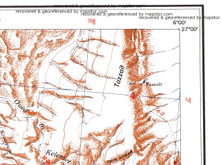 Reduced fragment of topographic map en--ams--250k--ng31-08--(1956)--N027-00_E004-30--N026-00_E006-00