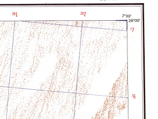 Reduced fragment of topographic map en--ams--250k--ng32-01--(1956)--N028-00_E006-00--N027-00_E007-30