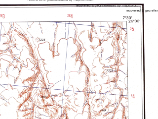 Reduced fragment of topographic map en--ams--250k--ng32-09--(1956)--N026-00_E006-00--N025-00_E007-30; towns and cities Tamdjert