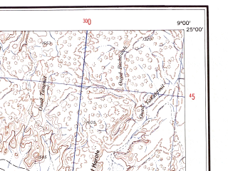 Reduced fragment of topographic map en--ams--250k--ng32-14--(1956)--N025-00_E007-30--N024-00_E009-00