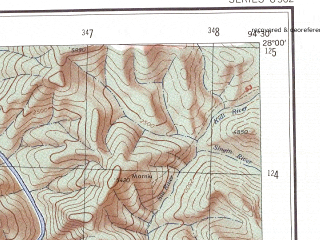 Reduced fragment of topographic map en--ams--250k--ng46-03--(1956)--N028-00_E093-00--N027-00_E094-30; towns and cities Balijangaon, Bini, Chemir