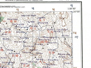 Reduced fragment of topographic map en--ams--250k--ng50-11--(1956)--N026-00_E117-00--N025-00_E118-30