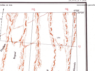 Reduced fragment of topographic map en--ams--250k--nh31-12--(1956)--N030-00_E004-30--N029-00_E006-00