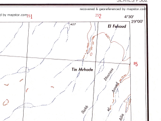Reduced fragment of topographic map en--ams--250k--nh31-15--(1956)--N029-00_E003-00--N028-00_E004-30