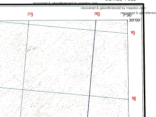 Reduced fragment of topographic map en--ams--250k--nh32-09--(1956)--N030-00_E006-00--N029-00_E007-30