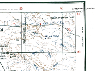 Reduced fragment of topographic map en--ams--250k--nh36-09--(1956)--N030-00_E030-00--N029-00_E031-30 in area of Birkat Qarun; towns and cities Al Fayyum
