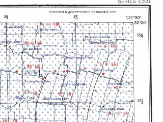 Reduced fragment of topographic map en--ams--250k--nh51-01--(1956)--N032-00_E120-00--N031-00_E121-30 in area of Yangcheng Lake, Dianshan Lake, Cheng Lake; towns and cities Shanghai, Suzhou, Wuxi